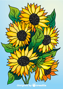 Sunflowers vector