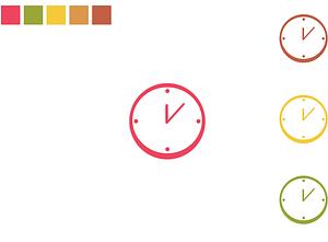 Set of Clocks Icon vector