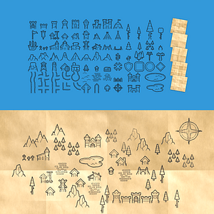 Cartography pack vector