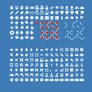 Game icons user interface vector