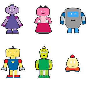 Set of Robots vector