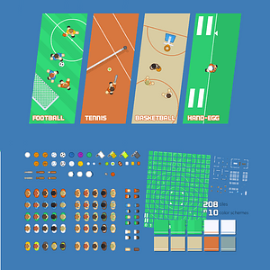 Sports pack vector