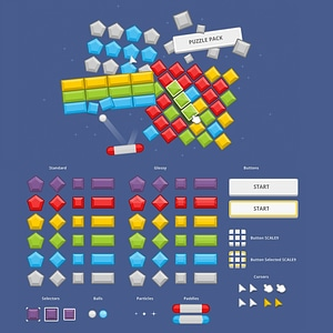 Puzzle pack vector