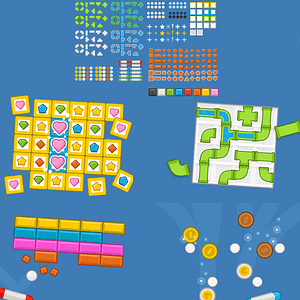 Puzzle game pack vector