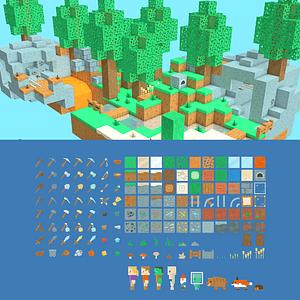 Pixel game pack vector