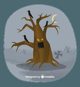 Haunted tree vector