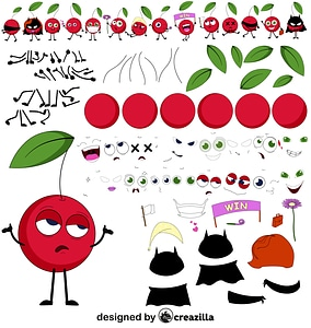 Cherry character constructor vector