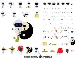 Robo character constructor vector
