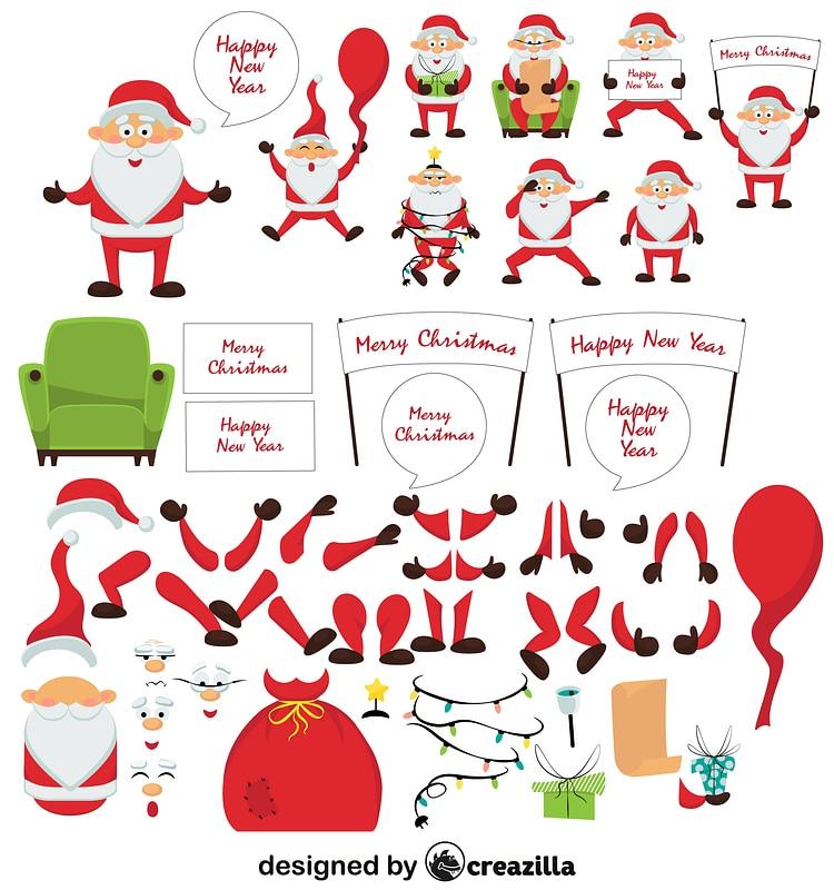 Santa Claus character constructor vecteur