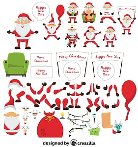 Santa Claus character constructor vector