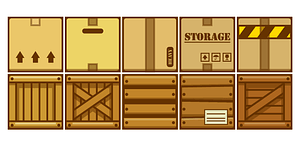 Boxes and crates vector