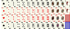 Deck playing cards vector