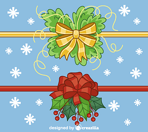 Christmas ribbons vector