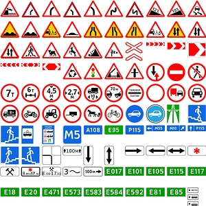 Road Signs of Russia vector