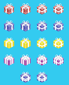 Isometric gifts vector