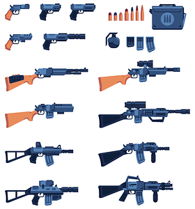 Rifles and guns vector