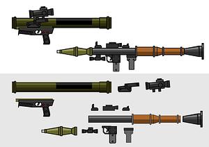 Rocket launchers vector