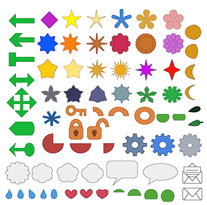 Simple shapes icons vector