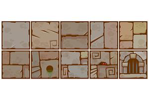 Stone blocks vector