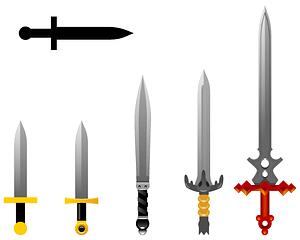 Sword set vector
