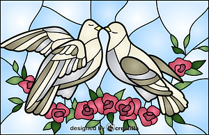 Dove Stained Glass Style Illustration vector