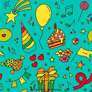 Birthday Pattern vektori