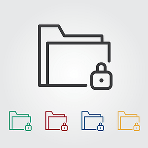 Folder Lock Icons vector
