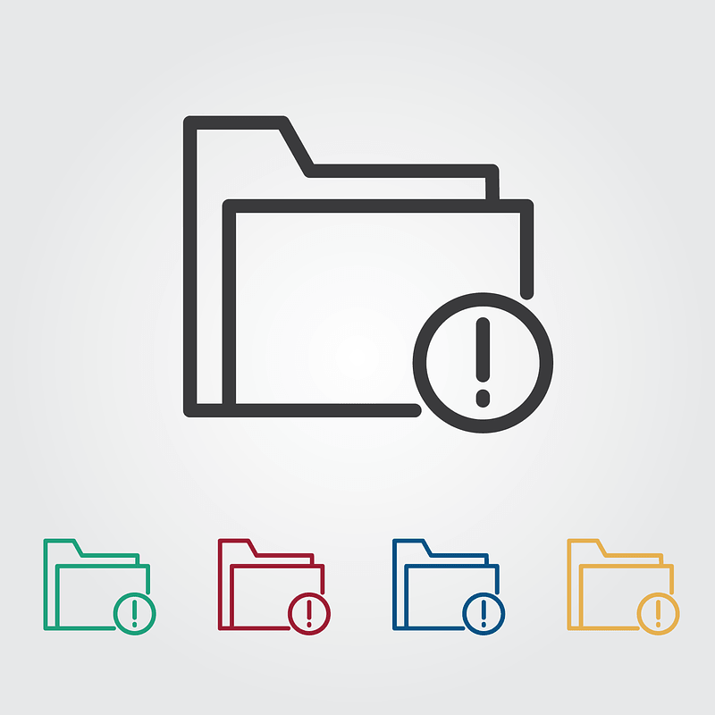 Folder with An Exclamation Sign Icon vector