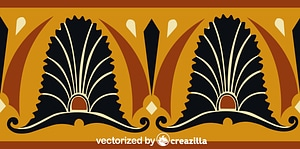 Ancient Greek Pattern vector