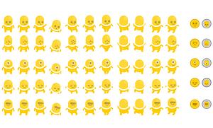 Yellow aliens vector