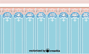 The panels with trophies of objects referring to the arts vector
