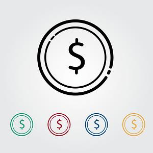 Dollar Icons vector