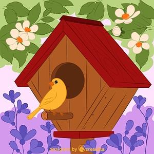 Birdhouse vector