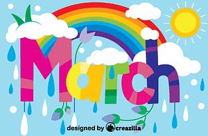 Векторне зображення: March