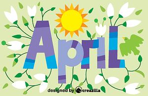 Векторне зображення: April
