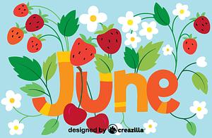 Векторне зображення: June