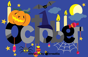Векторне зображення: October