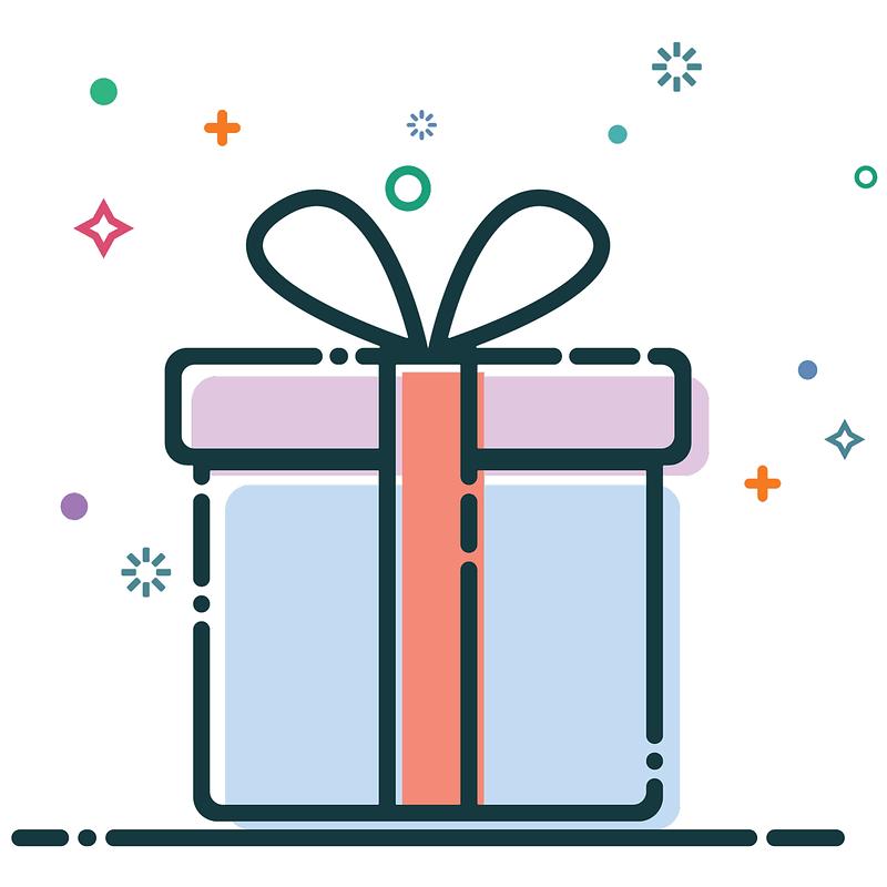 Birthday Present Background vector