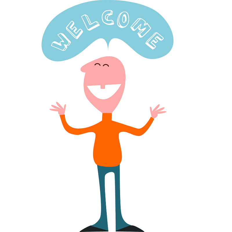 Welcome Man Character vector