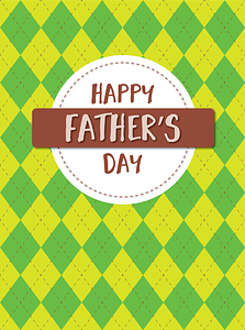 Happy Father's Day Card vector
