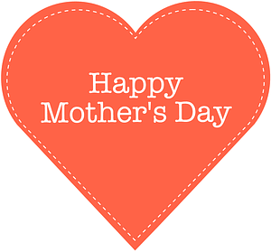 Happy Mother's Day Lacing Heart Card vector