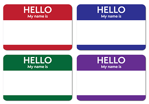 Name Badges Template vector