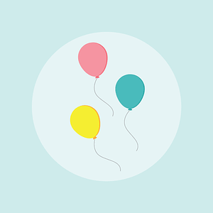 Balloons Happy Birthday Card vector