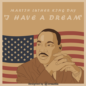 Black history month - Martin Luther King vector