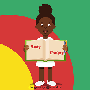 Black history month - Ruby Bridges vector