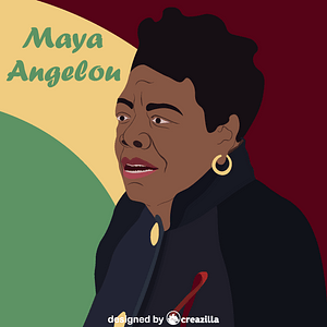 Black history month - Maya Angelou vector
