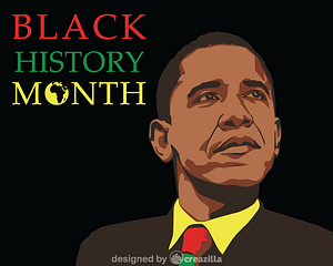 Black history month - Barack Obama vector