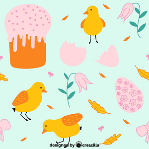 Easter pattern 3 vector