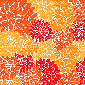 Red and Yellow Flowers Background vector