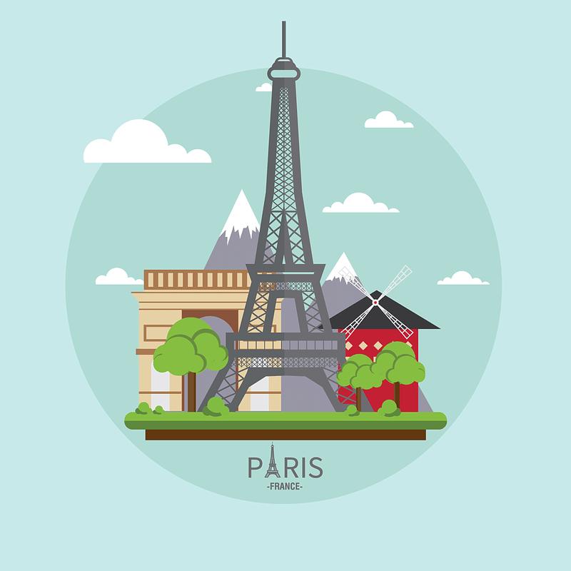 Paris Background vector